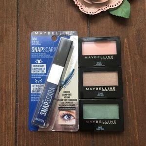 Maybelline Blue Snapscara & 3 eyeshadows